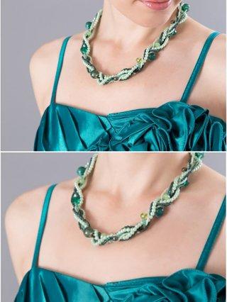 グリーンの北欧 ロングドレス5026/演奏会 ラミューズドレス通販
