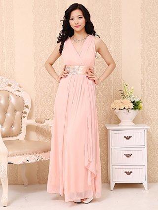 水の色彩〜ピンク ロングドレス 3292 / 演奏会 ラミューズドレス通販
