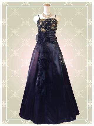 【Lサイズ】Belleブラック ロングドレス 9080 演奏会 ラミューズドレス通販