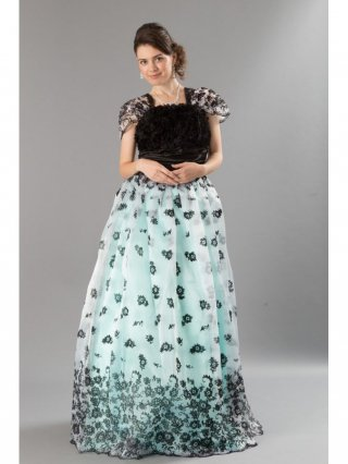 ブラックローズ プリンセスドレス グリーン6518/演奏会・ラミューズドレス通販