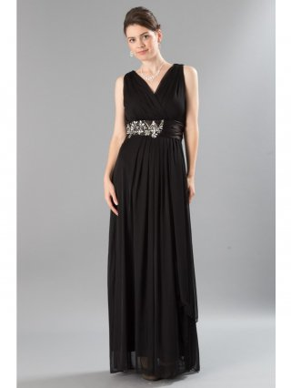 水の色彩〜ブラック ロングドレス / 演奏会 ラミューズドレス通販