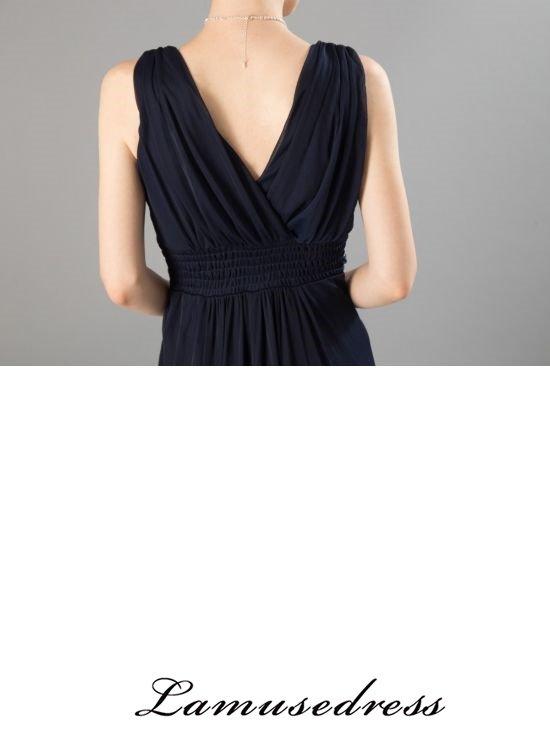 869c8ebd9a4a80 水の色彩~ネイビー ロングドレス / 演奏会 ラミューズドレス通販. 型番:: 3292