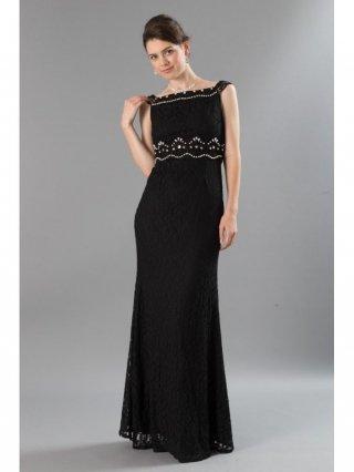 【SML】着やせスレンダードレス・ブラック パール刺繍2237 / 演奏会 ラミューズドレス通販
