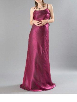 【L】マーメイドロングドレス オーガンジーRED 5085/ 演奏会 ラミューズドレス通販