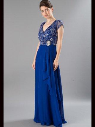 【SALE!!】ホログラム お袖付きロングドレス ブラック*ブルー 9540/ 演奏会 ラミューズドレス通販