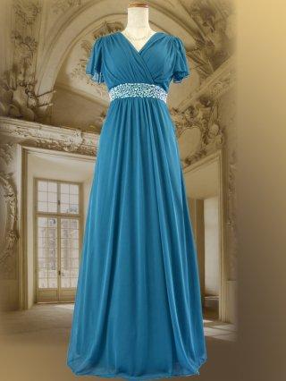 Lux グリーン ロングドレス 8612/ 演奏会 ステージ衣装 発表会