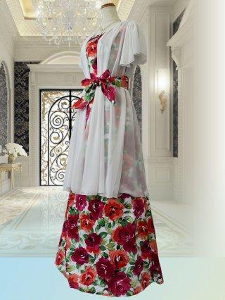 ダメージあり【2Lサイズ】歌姫ロングドレス7231ステージドレス ラミューズ