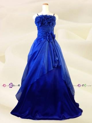 【M】薔薇のカラードレス ロイヤルブルー5760/演奏会 ラミューズドレス通販