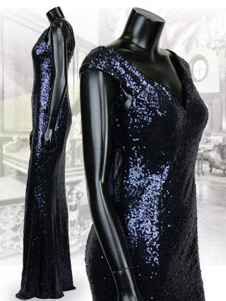 【Lサイズ】レッド*シルバー*ブラックマーメイドスパン ロングドレス 40911/ 演奏会 ラミューズドレス通販