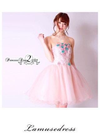 ●プリンセスミニドレス ピンク9970/演奏会 ラミューズドレス通販