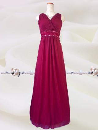 訳アリ テアトルレッドのロングドレス 7855 / 演奏会 ラミューズドレス通販