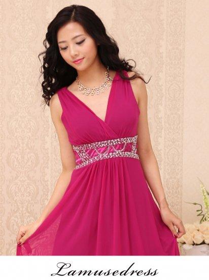 bc626d90cc250 ルナ・ピンクのロングドレス ノースリーブ9-148  演奏会 ラミューズドレス通販