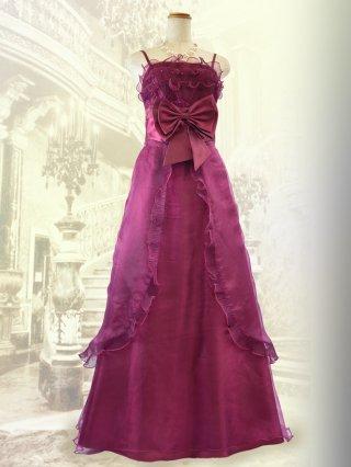 【お得なパニエセット☆】リボンドールのピンクローズ・ロングドレス2708