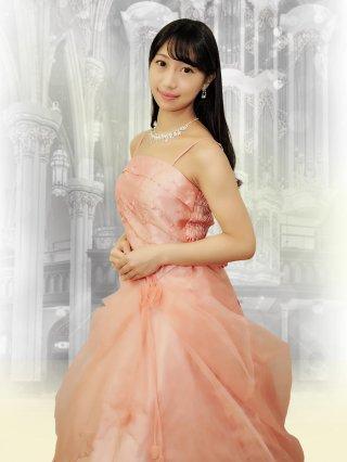 小柄な方*イエロー・ピンクの鈴蘭ロングドレス9010/ 演奏会 ラミューズドレス通販