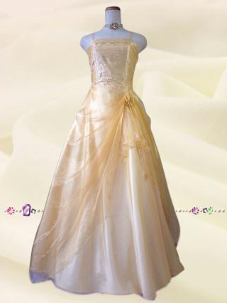 小柄な方*イエローの鈴蘭ロングドレス9010/ 演奏会 ラミューズドレス通販