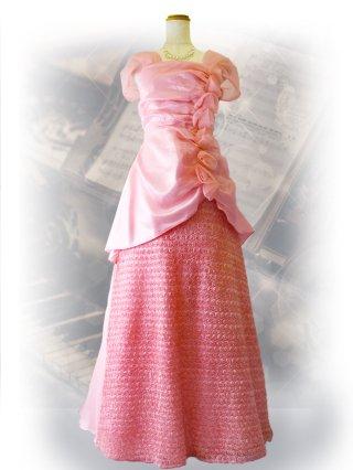 ローズ*ピンクロングドレス 9977 演奏会・ステージ衣装