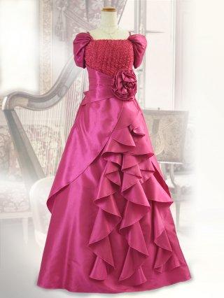 ハープ・チェリー お袖付きロングドレス 1478P演奏会ステージドレス