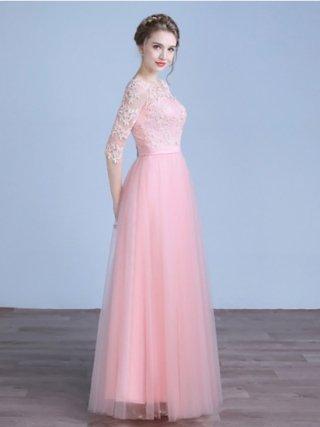リトルピンク・プリンセスロングドレス HH-10 演奏会ステージドレス