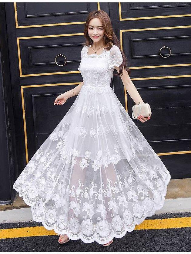 4c96a987dbf78 アリア・ホワイトお袖付きワンピース ドレス98611 ラミューズドレス 演奏会