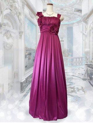 【染ムラあり】アシンメトリーロングドレス ノースリーブ ピンク 6281/ 演奏会 ラミューズドレス通販