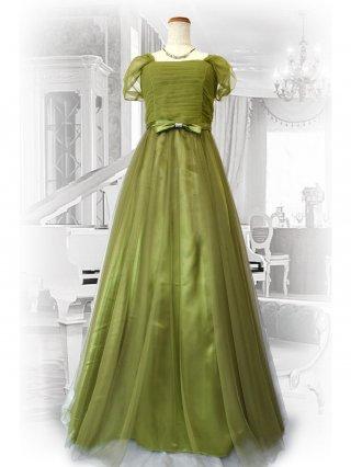 チロリアングリーン*お袖付きロングドレス 1789 演奏会