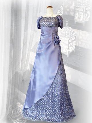 サルビア・ラベンダー お袖付きロングドレス3251/ 演奏会 ラミューズドレス通販