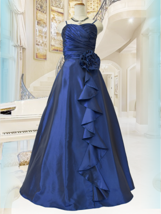 【M・L】シャーリングハート・ロイヤルブルー ロングドレス 2707 ステージドレス ラミューズ