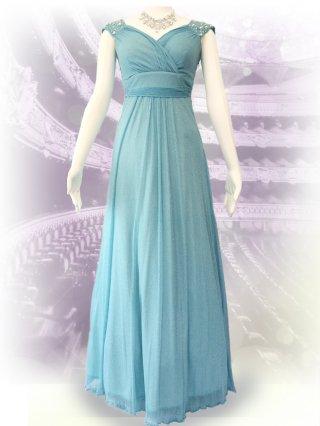 ドルチェパール・ミントグリーンロングドレス 1353/演奏会ステージドレス