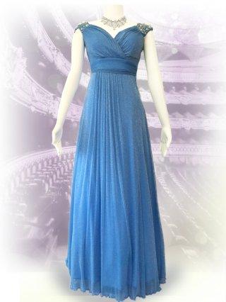 ドルチェパール・ブルーロングドレス 1353/演奏会ステージドレス