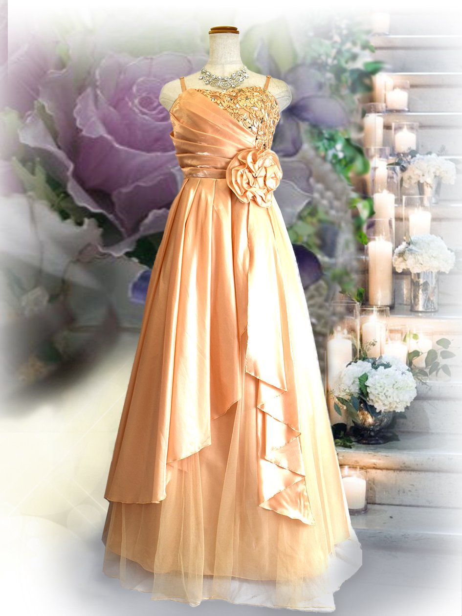 f9cc0c827c3b5  M.L ルノワール着やせドレス♪1601コープゴールド ラミューズドレス通販