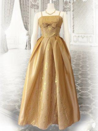クラシカルプリンセス♪キャメルベージュ*ロングドレス 1612 演奏会 ステージ衣装