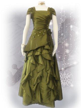 少しダメージあり*アスターグリーン・プリンセスドレス 9970 演奏会ステージドレス