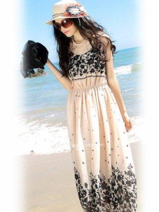リゾートスタイル・ワンピースドレス ベージュ*8115727演奏会ステージドレス