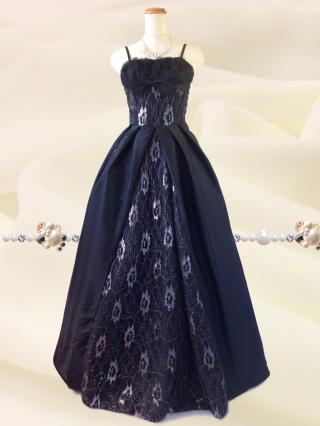 クラシカルプリンセス♪ブラック ロングドレス 1612 演奏会 ステージ衣装