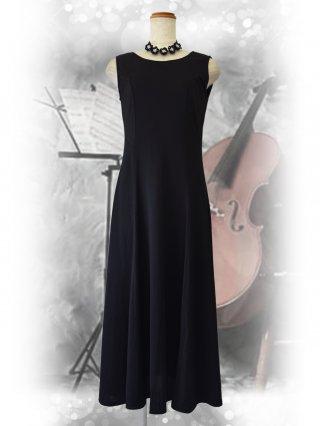 【S/M/2L】ブラック*ノースリーブワンピース3408・6418/ 演奏会 ラミューズドレス通販