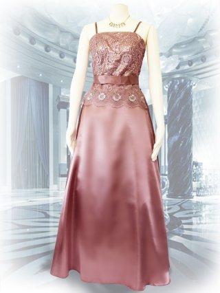 【M.L】モカグレーピンク*ロングドレス 1753演奏会 ラミューズドレス通販