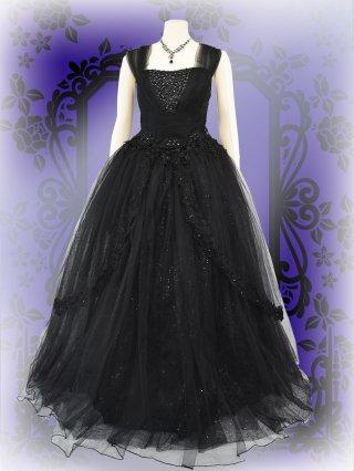 【19号・LL~】リサイタルドレス*ブラックビジュー3001* 演奏会 ラミューズドレス通販