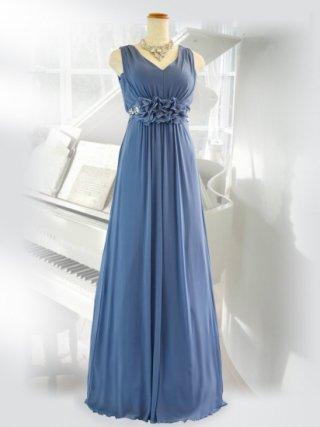 エレジー・ブルーロングドレス 6645演奏会ステージドレス