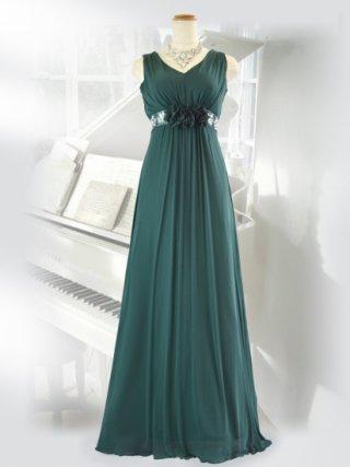 エレジー・グリーンロングドレス 6645演奏会ステージドレス