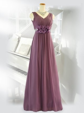 エレジー・ブラウン&パープルロングドレス 6645演奏会ステージドレス