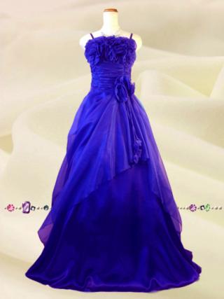 薔薇のカラードレス*ダークパープル*紫紺*5760/演奏会 ラミューズドレス通販