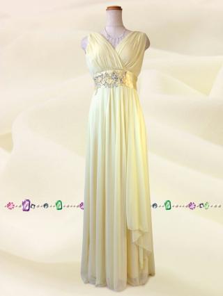 水の色彩〜 イエロー ロングドレス/ 演奏会 ラミューズドレス通販