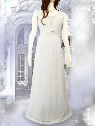 スワン・ホワイトロングドレス 1145/演奏会ステージドレス