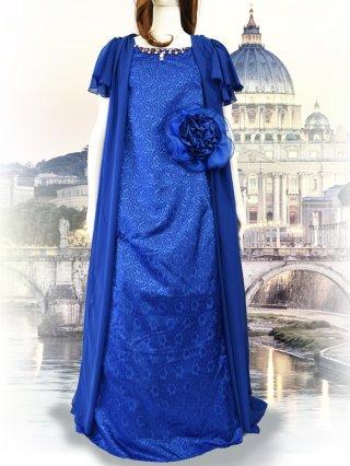 【17号~】3WAY*ロイヤルブルーロングカーデ付き*袖付きドレス/ラミューズドレス 演奏会
