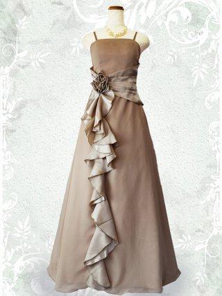 【お得なパニエセット☆】幻想的ロングドレス・ベージュ2090/演奏会 ラミューズドレス通販