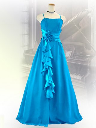幻想的ロングドレス・ブルー2090/演奏会 ラミューズドレス通販