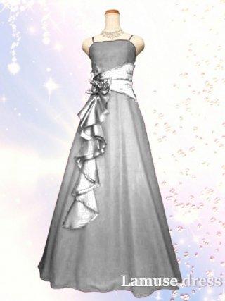 幻想的ロングドレス・シルバー2090/演奏会 ラミューズドレス通販