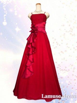 幻想的ロングドレス・レッド*2090/演奏会 ラミューズドレス通販