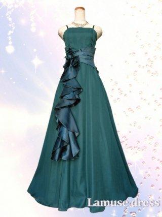 幻想的ロングドレス・グリーン*2090/演奏会 ラミューズドレス通販