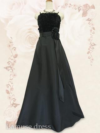 アンナ・ローズ*ブラックのロングドレス9113/ 演奏会 ラミューズドレス通販